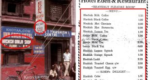 Hashish Hotel Menu in Nepal